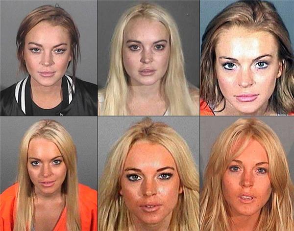 Ảnh chụp những lần bị bắt vì phạm luật của Lindsay