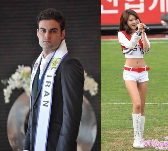 Đàn ông Iran và phụ nữ Hàn Quốc.(Ảnh: Internet)