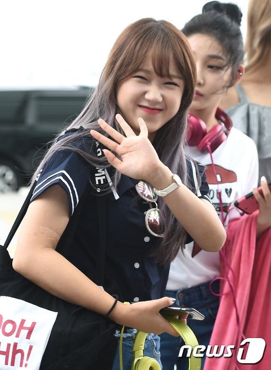 Cô gái nhỏ nhắn Choi Yoo Jung đến cả nhăn mặt cũng vô cùng đáng yêu.