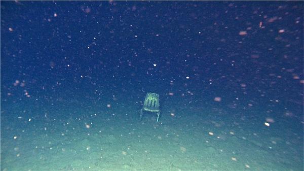 Nếu đang lặn mà thấy một chiếc ghế bí ẩn như thế này thì tốt nhất bạn nên quay trở lên.