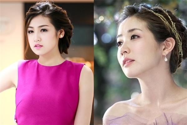 Tú Anh vàChoi Jung Won đặc biệt giống nhau ở gương mặt bầu bĩnh và đôi môi trái timnhỏ nhắn. - Tin sao Viet - Tin tuc sao Viet - Scandal sao Viet - Tin tuc cua Sao - Tin cua Sao