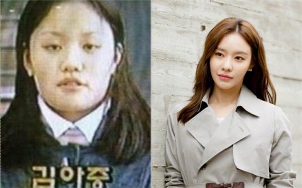 """Kim Ah Joong đã thay đổi nhiều sau khi giảm cân, giống hệt nhân vật cô đảm nhận trong bộ phim """"Sắc đẹp ngàn cân""""."""