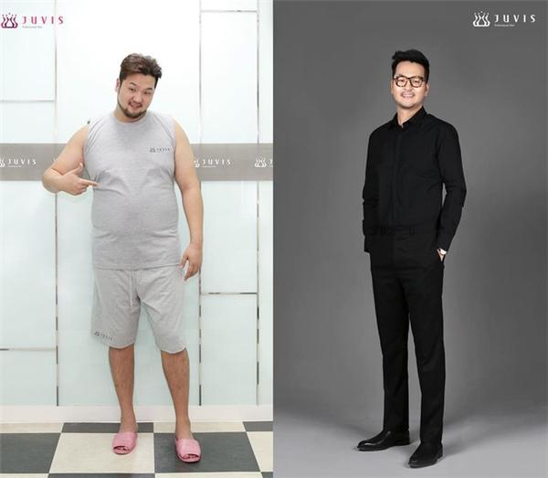 Kim Tae Woo vui vẻ chia sẻ bí quyết giảm cân của mình.