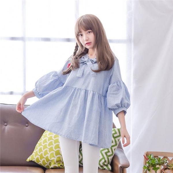 Chiếc áo babydoll truyền thống sẽ là lựa chọn số một cho cô nàng yêu phong cách dễ thương.