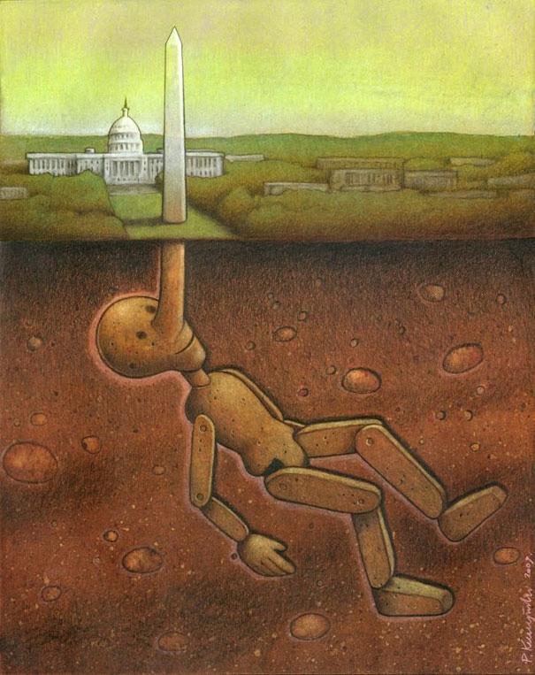 Tất cả những gì bạn nhìn thấy trên thế giới đều chỉ là phần nổi của sự dối trá.
