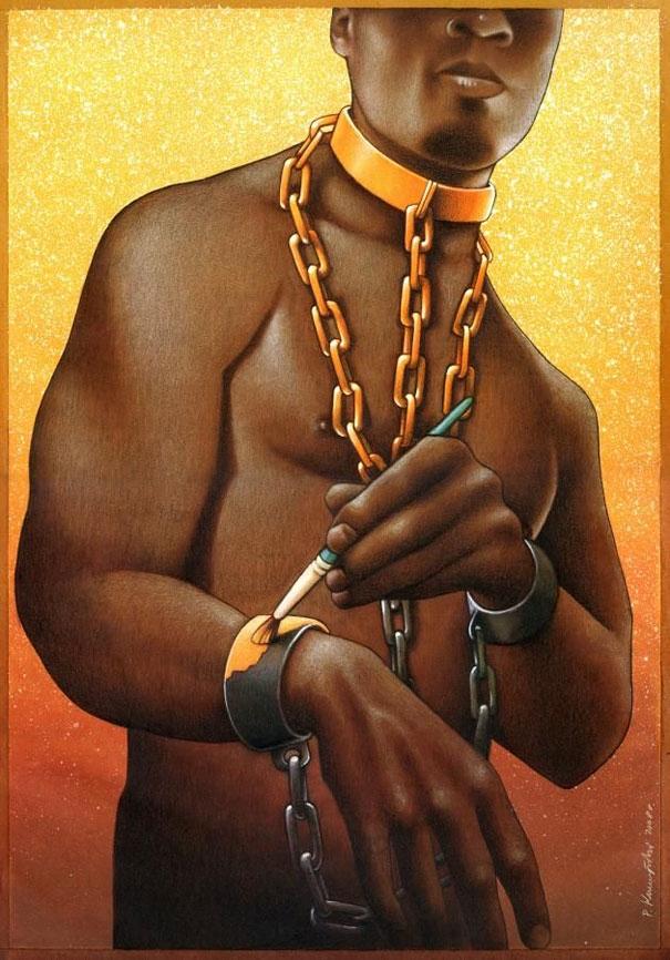 Xiềng xích dù có sơn vàng thì vẫn là xiềng xích, cũng như bạn không bao giờ thay đổi được màu da của mình.