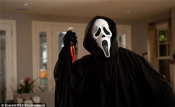 Mặt nạ Scream nổi tiếng từ khi xuất hiện trong loạt phim kinh dị Tiếng thét.