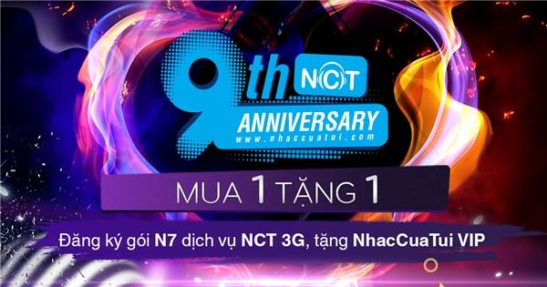 """Quà tặng NhacCuaTui 3G: """"Đăng ký gói N7 dịch vụ NhacCuaTui 3G tặng 7 ngày NhacCuaTui VIP""""."""