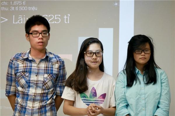 Giải Ba dành cho đội DCM (gồm các thành viên Nguyễn Ngọc Quỳnh Phương, Trần Thị Khánh Hòa và Nguyễn Quốc Trung) với ý tưởng mở cửa hàng làm crepe art.