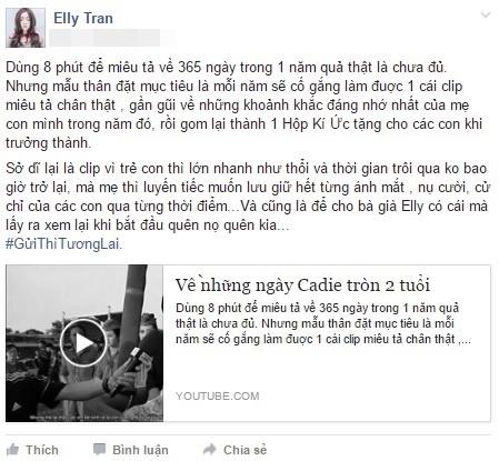 Dòng chia sẻ mới nhất trên trang cá nhân của Elly Trần. - Tin sao Viet - Tin tuc sao Viet - Scandal sao Viet - Tin tuc cua Sao - Tin cua Sao