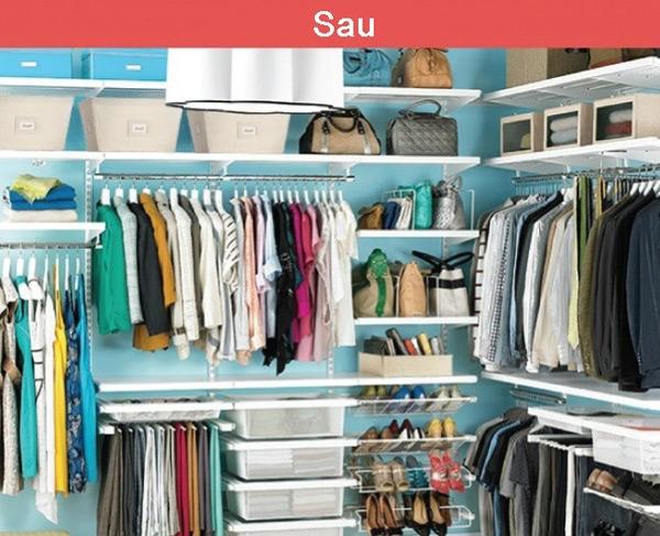Lúc nhiều người dùng chung một phòng thay đồ, ngay lập tức nó phải trở nên ngăn nắp, gọn gàng hơn.