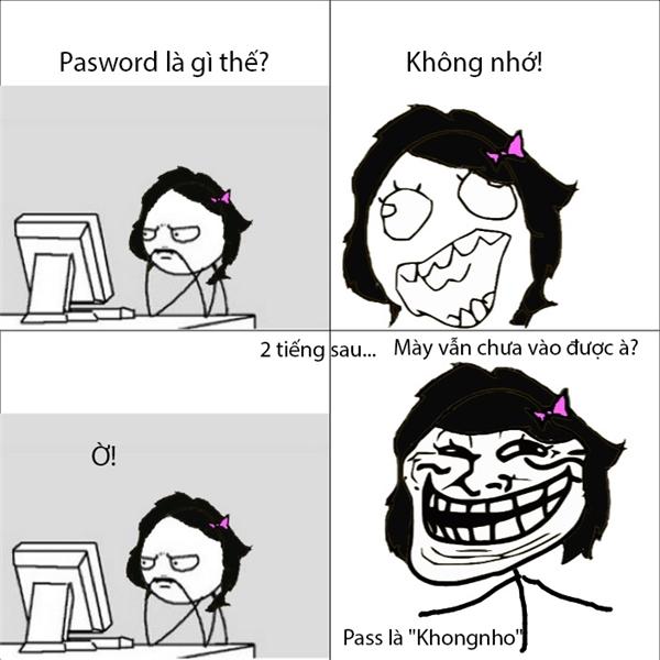 """Hoang mang vì cái mật khẩu""""không đỡ nổi"""".(Ảnh: Internet)"""
