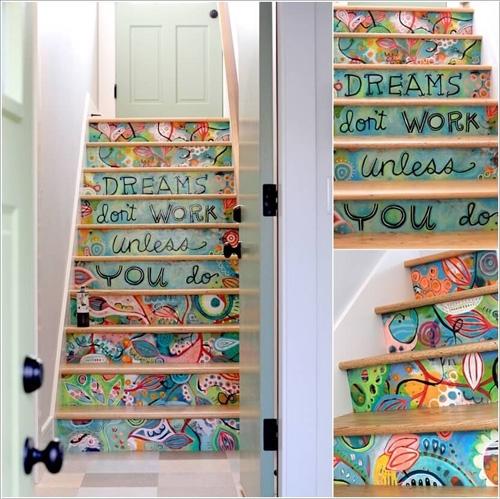 Mỗi lần lên xuống cầu thang, bạn sẽ lạitự nhắc với bản thân về ước mơ của chính mình. Thông điệp được khắc trực tiếp như thế nàygiúp bạn luôn ghi nhớ rằng thành công chỉ đến khi dám làm những điều mình mơ ước.