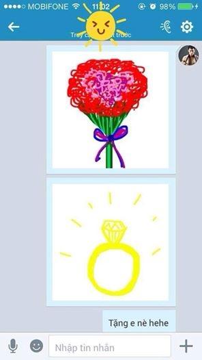 Thậm chí,Công Vinh từng khiếnfan tan chảy khi tặng vợ nhẫn và hoa do anh tự vẽ. - Tin sao Viet - Tin tuc sao Viet - Scandal sao Viet - Tin tuc cua Sao - Tin cua Sao