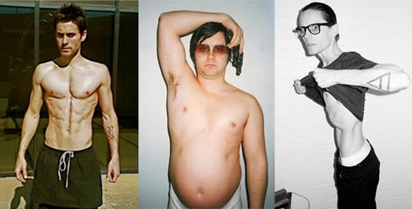 """Jared đã """"hy sinh"""" thân hình rắn rỏi của mình vì sự nghiệp diễn xuất không chỉ một lần."""