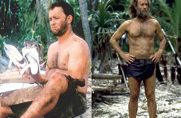 """Thậm chí Tom cũng đã """"hy sinh"""" nuôi râu quai nón để tạo cảm giác anh đã phải sống ở đảo hoang suốt nhiều tháng ròng."""