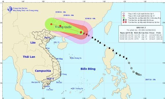 Ảnh hưởng của bão Nida gây mưa diện rộng cho toàn miền Bắc đêm nay