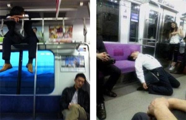 Nào cùng đoán tính cách qua... tư thế ngủ ở chốn công cộng.(Ảnh: Internet)