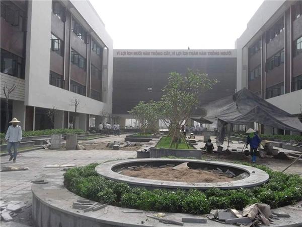Công trình trường chuyên Bắc Ninh được đánh giá là ngôi trường hiện đại nhất Việt Nam và đứng vị trí thứ 2 trên toàn khu vực Đông Nam Á. (Ảnh: Đào Hoàng Anh)