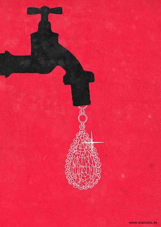 Nước chính là tài nguyên quí giá nhất trên thế giới. Hãy sử dụng nước tiết kiệm vì một khi đã lãng phí, nó sẽ không quay trở lại nữa.