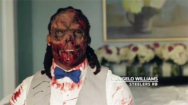 Chú rểDeAngelo Williams.(Ảnh: Cắt từ clip)