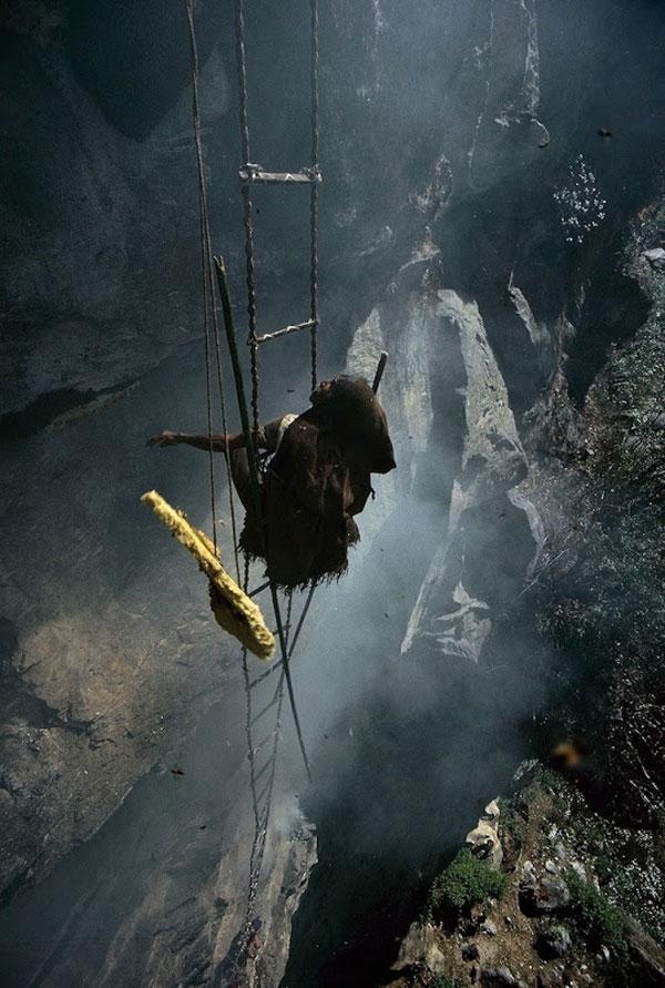 Công việc nguy hiểm nhất thế giới: săn mật ong ở độ cao gần trăm mét