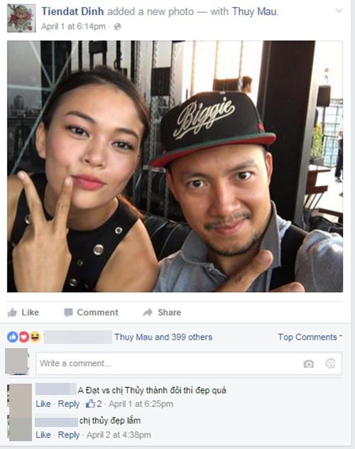 Trên trang cá nhân của mình, Tiến Đạt cũng từng công khai chia sẻ hình ảnh vui vẻ bên Mâu Thủy. - Tin sao Viet - Tin tuc sao Viet - Scandal sao Viet - Tin tuc cua Sao - Tin cua Sao