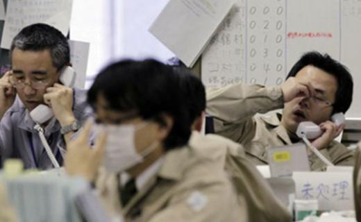 Một buổi làm việc căng thẳng tại Nhật.