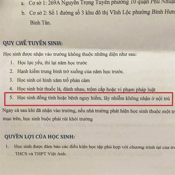 Quy chế tuyển sinh
