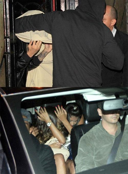 Justin cặp kè với gái làng chơi.