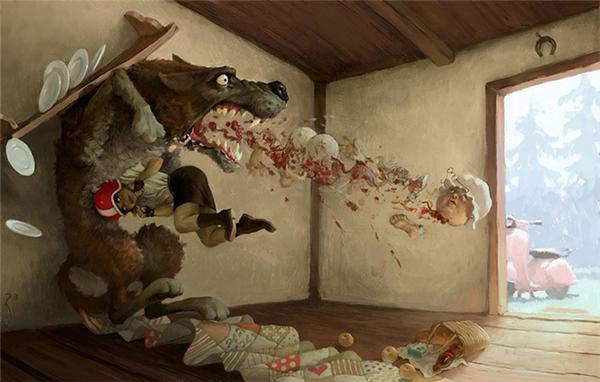 Trước khi con sói trả giá cho tội ác của nó thì nó đã kịp ăn thịt người bà rồi. Dù ở thời đại nào thì cái ác vẫn luôn thắng, ở một thời điểm nào đó.