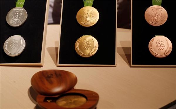 Những tấm huy chương dùng trong kì Olympics Rio 2016 được đánh giá là huy chương bền nhất trong lịch sử.