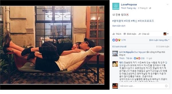 Đây là một trang mạng dành cho giới trẻ Hàn Quốc,chuyên chia sẻ những hình ảnh của các cặp đôi đáng yêu.(Nguồn: Internet)