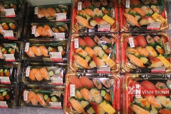 Thế giới sushi đầy màu sắc.