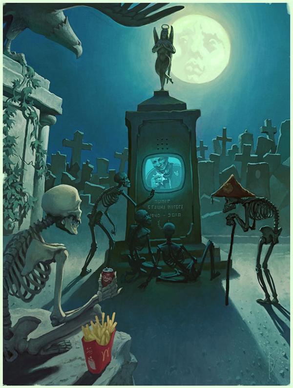 Công nghệ thậm chí đã xâm lấn đến thế giới của người đã chết. Ngay cả những kẻ đã nằm dưới mồ cũng không được yên nghỉ.