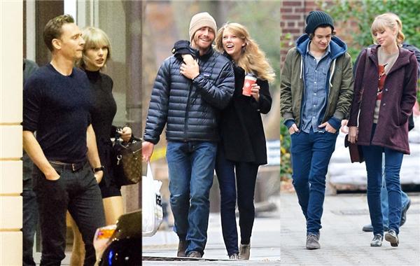 Taylor Swift đã trải qua rất nhiều mối tình bên cạnh những người đàn ông nổi tiếng nhất Hollywood.
