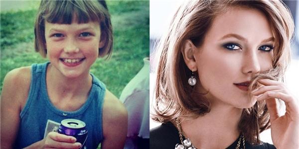 Cùng một kiểu tóc nhưng Karlie đã xinh đẹp hơn rất nhiều.
