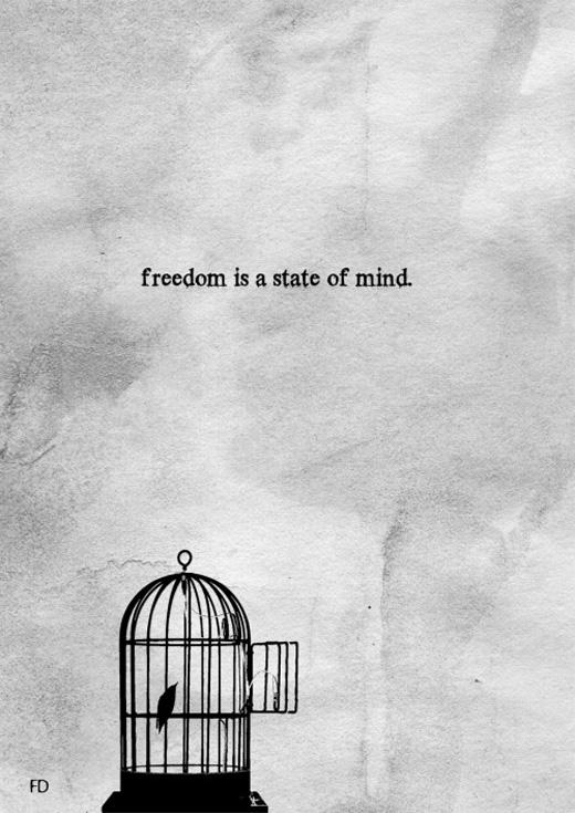 Tự do chính là sức mạnh ý chí. Người mất tự do là người không đủ mạnh mẽ để thoát khỏi những chấn song kiềm giữ mình.