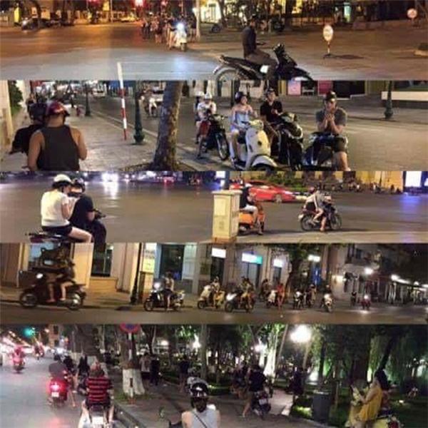 Giới trẻ lao ra đường trong đêm (Ảnh internet)