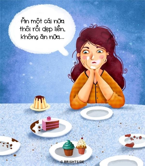 """Nếu đã quyết định dừng ăn thì hãy dẹp ngay những thứ ngon lành hấp dẫn kia đi và tuyệt đối không được """"nuông chiều"""" hay du di cho bản thân mình."""