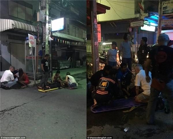 Đội cứu hộ lập tức có mặt để sơ cứu và đưa các nạn nhân đi cấp cứu. (Ảnh: Daily Mail)