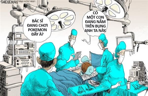 Không có gì khẩn cấp bằng việc bắt Pokemon, những việc khác có thể đợi, kể cả người đang hấp hối.