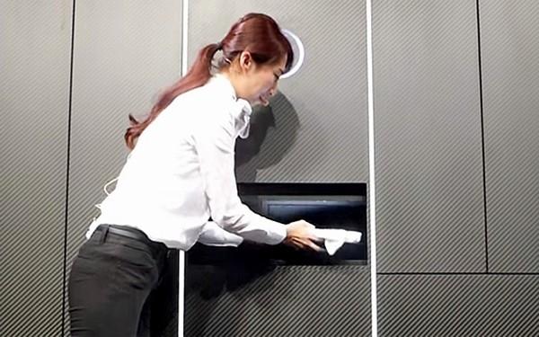 Bạn có tin đây là robot giặt quần áolaundroid không? (Ảnh: internet)