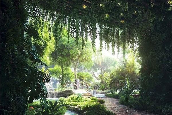 Đây cũng là khu rừng nhiệt đới đầu tiên được xây dựng ở Trung Đông.