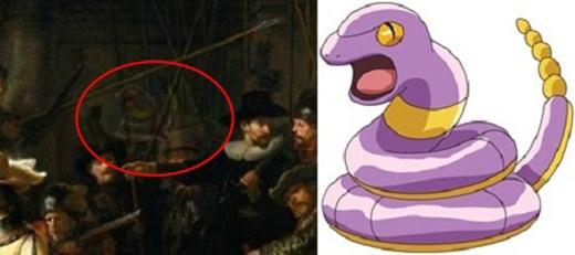 Đáp án: Pokemon rắn Ekans chính là kẻ đang lợi dụng bóng tối và đám đông náo nhiệt để qua mắt bạn kìa.