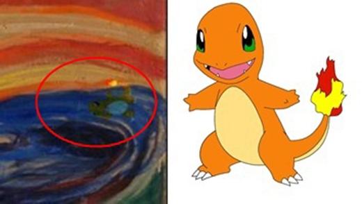 Đáp án: Charmander chính là em Pokemon đã gây nên tiếng thét khủng khiếp của người đàn ông trong tranh.