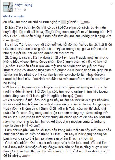 Giới trẻ Việt và trào lưu #firstsevenjobs. (Ảnh: Chụp FB)