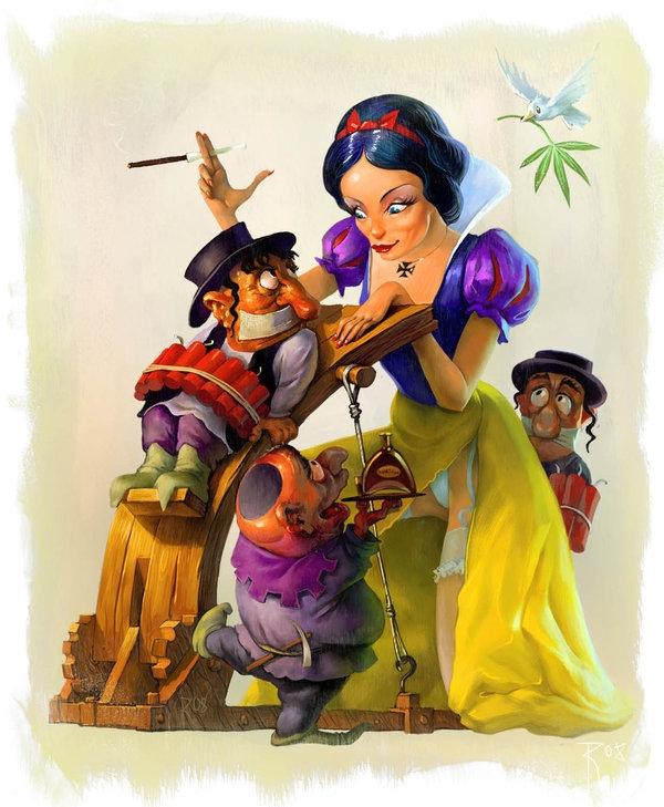 7 chú lùn thật ra chỉ là nô lệ và công cụ mua vui cho nàng Bạch Tuyết mà thôi.Những kẻ ác trong hình hài của cái ác thật sự không hề đáng sợ như bạn nghĩ. Chỉ có những kẻ ác đội lốt thánh thiện nhân ái mới thật sự đáng sợ.