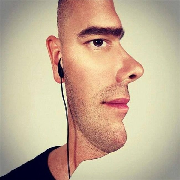 Khuôn mặt này chụp nghiêng hay chụp thẳng?