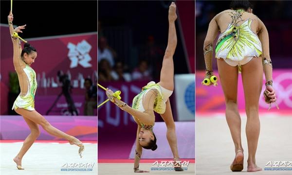 Vận động viên Su Han người Hàn Quốc để tuột giày trong lúc đang biểu diễn màn thể dục dụng cụ tại Olympic London 2012. Sau đó, cô vẫn tự tin thể hiện bài thi với đôi chân trần.